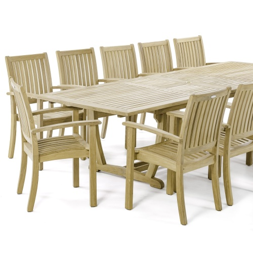 comfortable teak patio sets