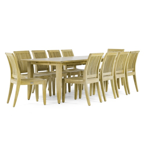 11 piece teak dining set
