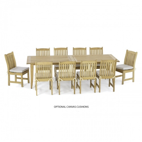 11 piece outdoor teak dining set