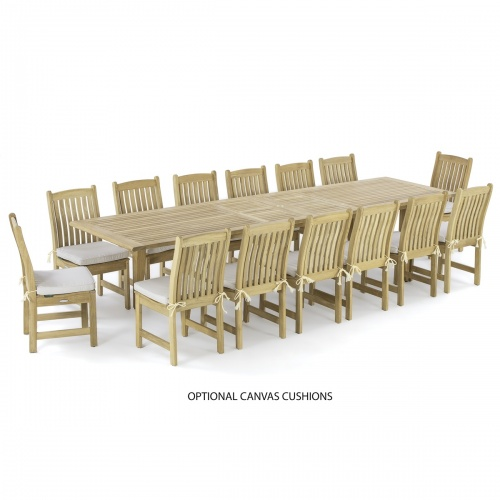 westminster teak wood dining set