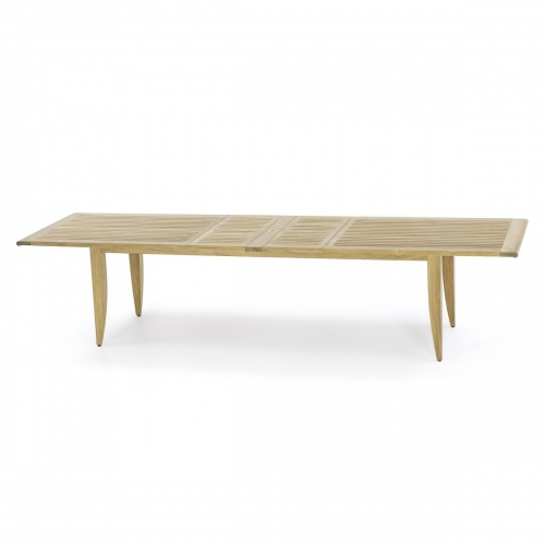 large outdoor dining table with leafs