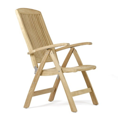 teak garden furniture recliner chair