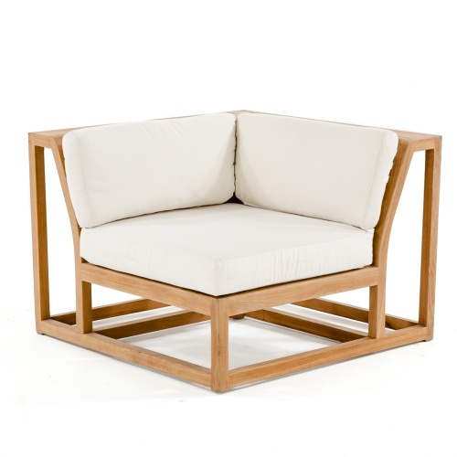 teak wood patio sofa corner