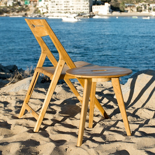 Vintage Teak Folding Chair
