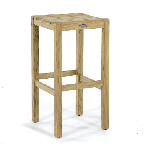 teak backless bar stools