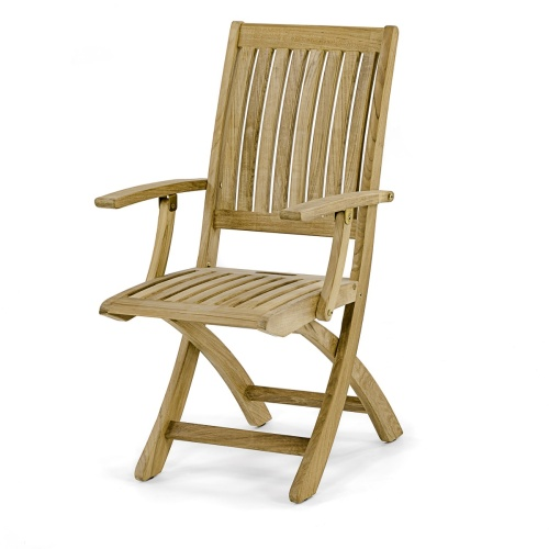 westminster folding teak dining chair