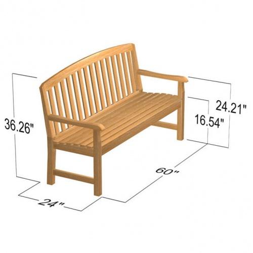 best teak benches