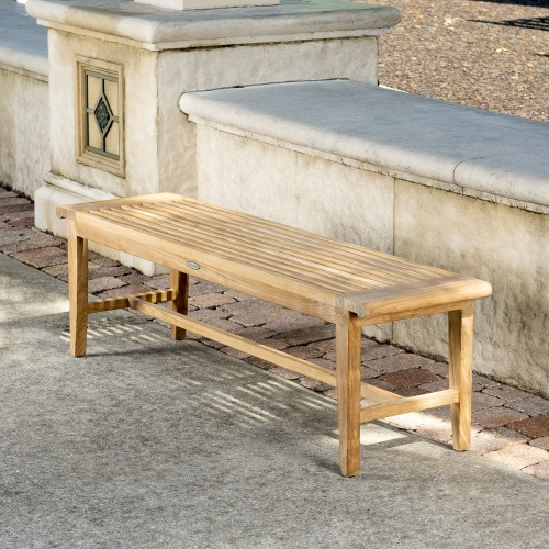 lifetime teakwood backless benches