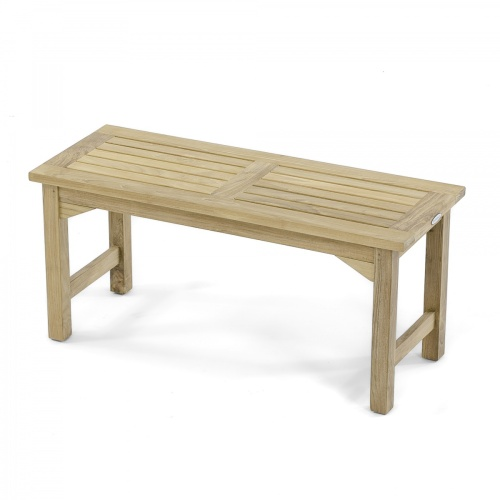 42 backless wooden bench