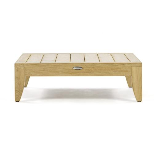 large teak square coffee table