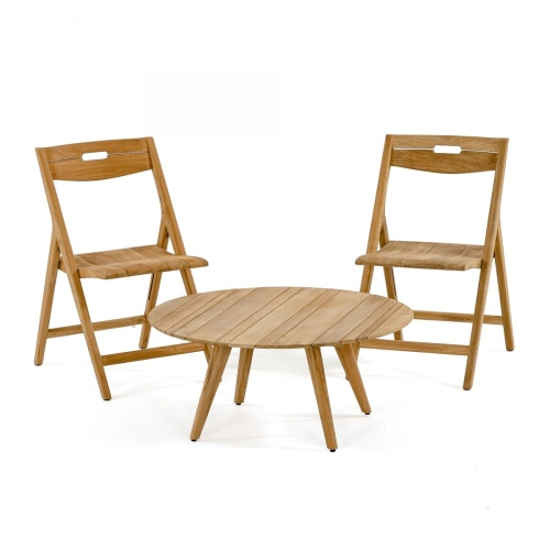 teakwood round coffee table