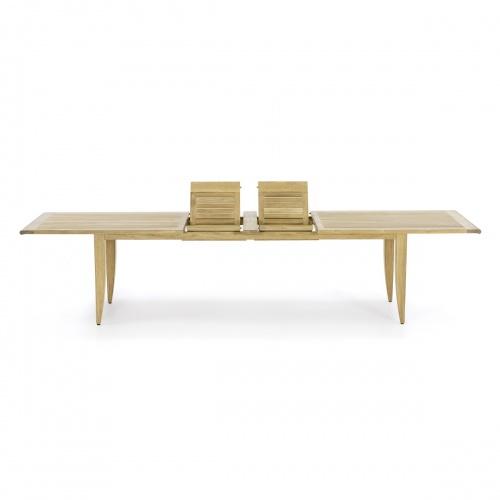 teak dining table long