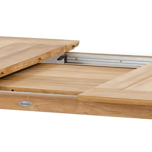 teak adjustable dining table