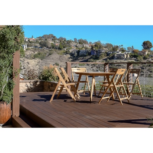 5 piece teak dining rectangular set