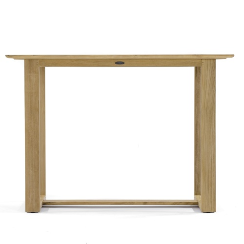 wooden high bar table rectangular