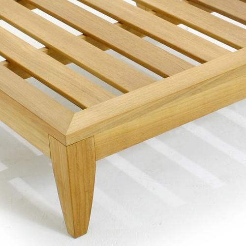 wooden footrest ottoman