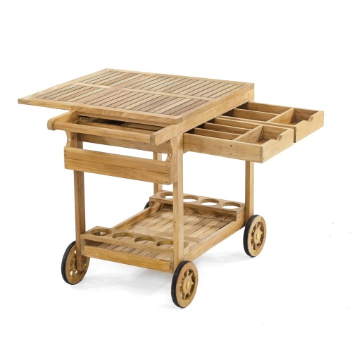 Teak Drinks Trolley