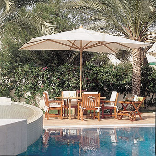 Poolside Teak Umbrella