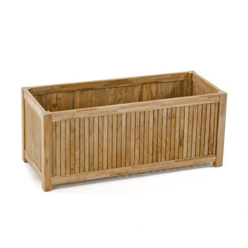 wooden rectangular planters