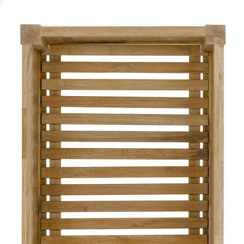 solid teak wood rectangular planter