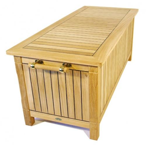 teak pool storage benches