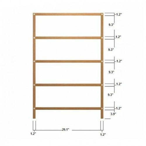 teak bathroom towel shelves