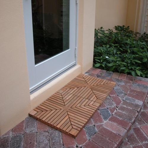 Outdoor Wooden Door Mat