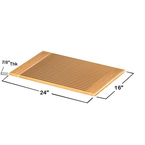 hotel quality teak bath mats