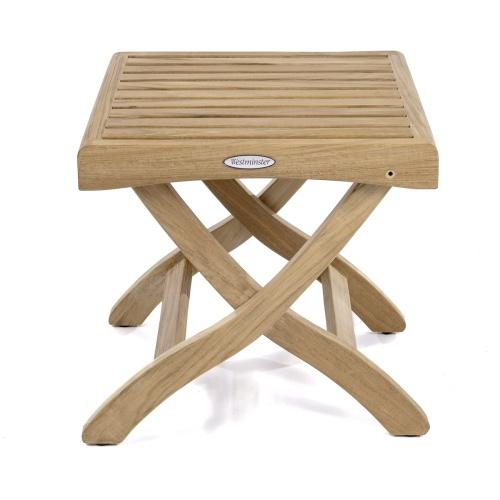 Teak Outdoor Folding Footstool