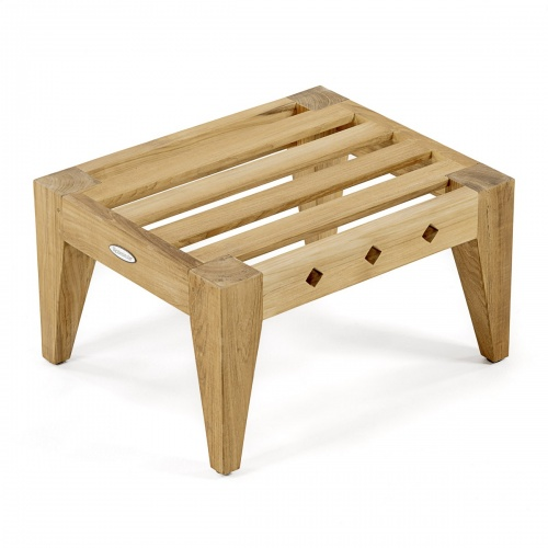 wooden ottoman for deck