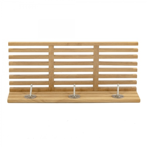 Teak Towel Rack With Shelf
