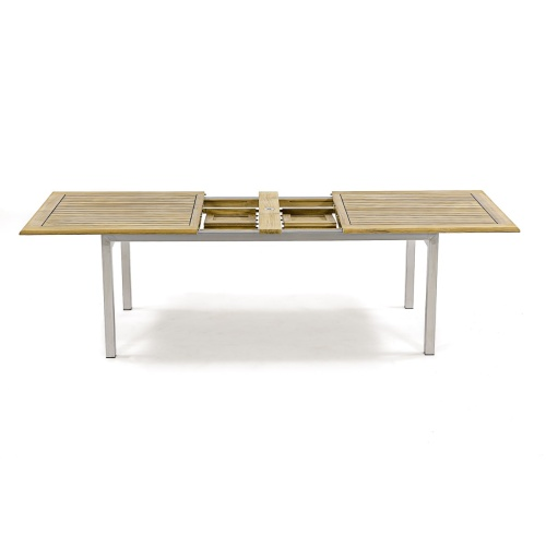 Extension Tables Made of Teak and Stainless Steel
