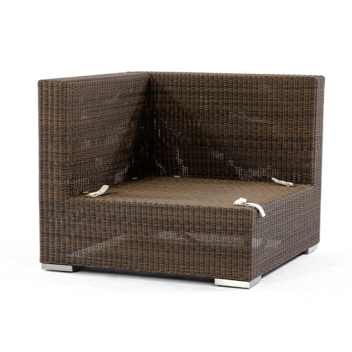 rattan wicker sectional corner