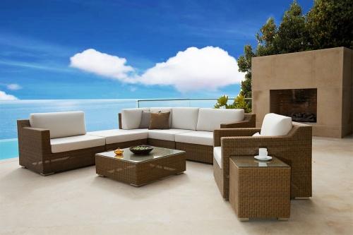 outdoor wicker coffee table