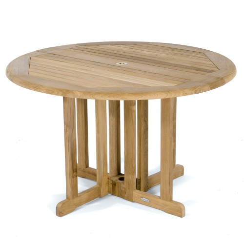 teak folding pub table