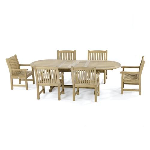 7 pc Montserrat Teak Dining Set