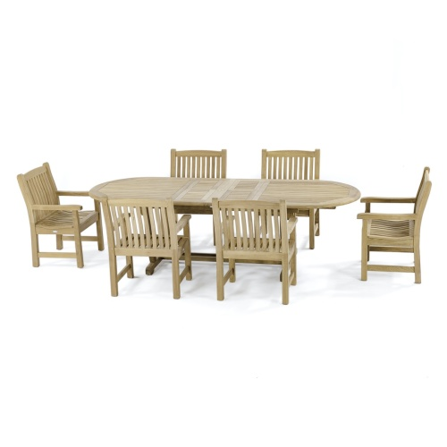 7 piece Dining Set Teak Patio