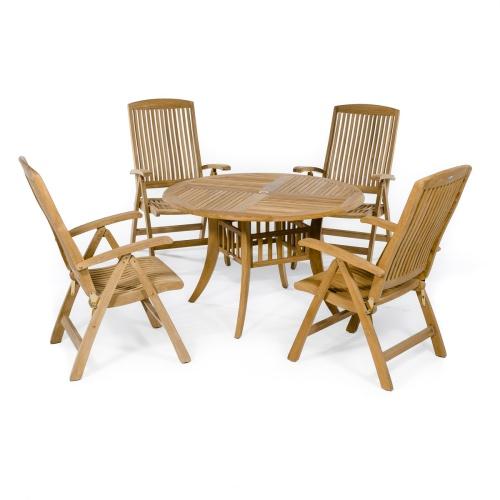 patio Wooden Reliner Set