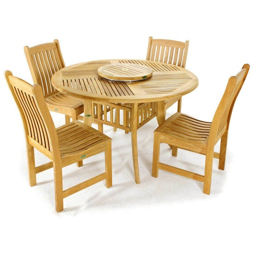 conteporary outdoor dining set teak