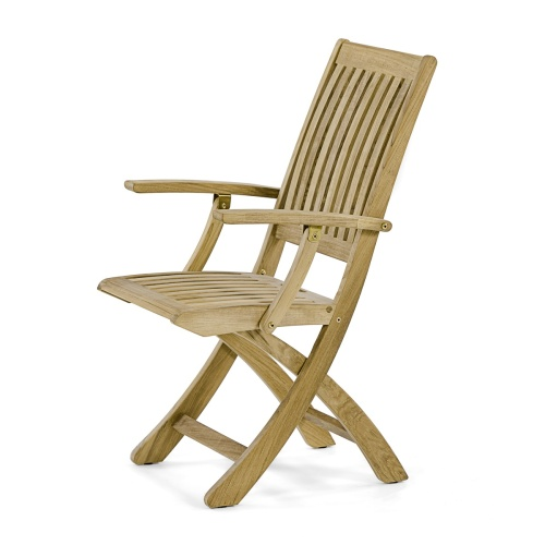 foldable dining chair teakwood