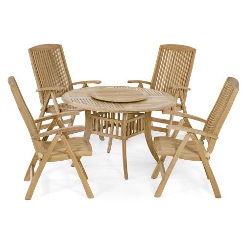 outdoor patio teak dining set