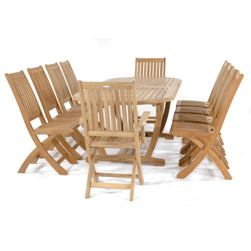 11pc extension table and chairs