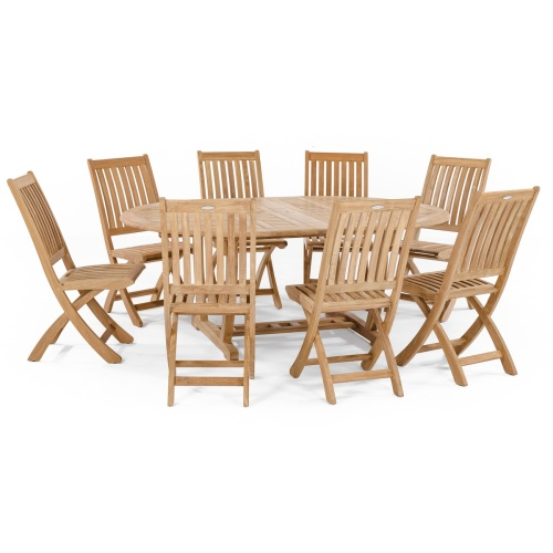 teak outdoor furniture oval table set