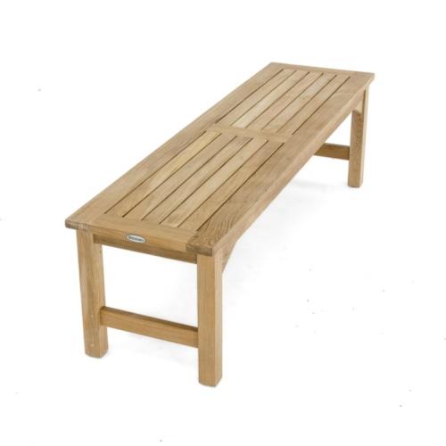 4 Ft Backless teak bench