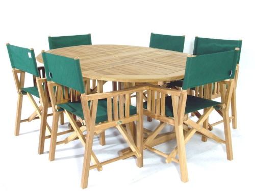 grade a teak oval extendable table