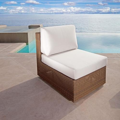 teak slipper chair