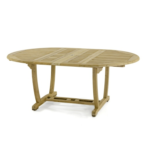 high class teak butterfly leaf table