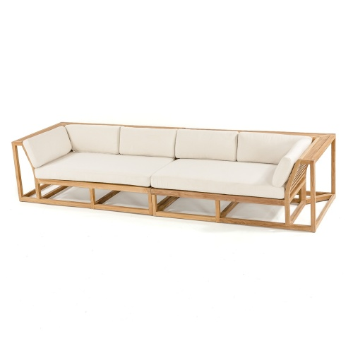 teak wood outdoor sofa sectionals