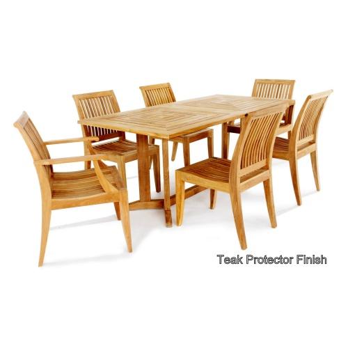 teak dining sets 7 piece
