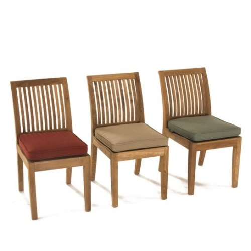 teak sidechair with cushions
